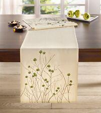 Tischläufer 40 x 160 cm Tischdecke Tischtuch Tisch Deko Landhaus Blüten creme