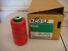 NEW Coats Polyfil Rose industrial / overlocker sewing thread - 10x5000m,180 ct