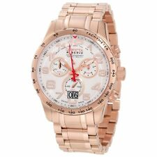Invicta 10743 Men's Military Reserve White Dial Rose Gold Steel Bracelet Watch