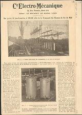 65 LANNEMEZAN LE BOURGET LE HAVRE LYON DAX TOURNAY CIE ELECTRO-MECANIQUE 1925