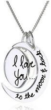 I Love You To The Moon And Back Sporty Necklace Heavier Chain Girls Guys Unisex