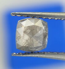 Beautiful 0.74TCW Gray nas color Cushion shape rosecut Natural Diamond for Jewel