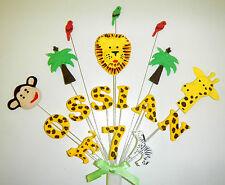 Jungle animal décoration de gâteau d'anniversaire personnalisé avec