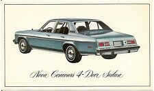 1976 Chevrolet Nova Concours 4-Door Sedan Automobile Advertising Postcard
