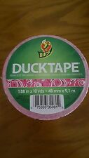 "DUCK BRAND duct tape Pink TEXTING WORDS LOL ROTF YOLO 1.88"" X 10 yds"