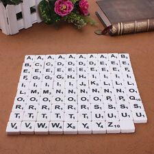 99pcs Plastic Flat Back Scrabble Tiles English Letters Number Game Set Pack New