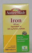 Nature Made Iron 65 mg 300 Tablets