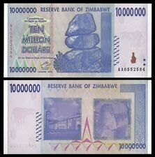 Zimbabwe 10 Million Dollars 2008 P 78 UNC