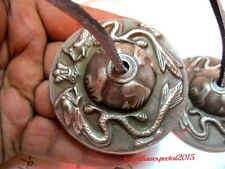 "Tibetan Tingsha Meditation High Quality Bells Cymbals 2.5"" Handmade Dragon"