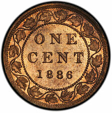 1886 1 Cent Canada (Obv. 2) MS-64RB PCGS - PRICE REDUCED!!!