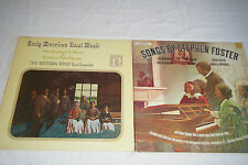 Lot of 2 LPs Early American Vocal Music, WESTERN WIND ENSEMBLE / Stephen Foster