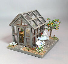 Doll house miniature Quarter scale  greenhouse fully decorated