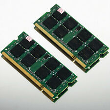 2GB 2x1GB PC5300 DDR2 667 667Mhz 200pin SODIMM Laptop Memory Notebook 2G Ram NEW