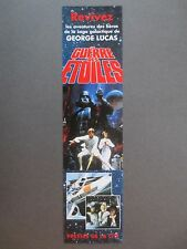 BOOKMARK STAR WARS Books George Lucas Etc French Publisher's Promotional