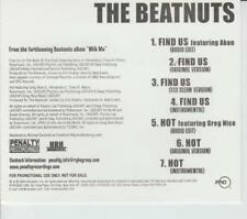 The Beatnuts: Find Us / Hot PROMO MUSIC AUDIO CD Akon XXX Clean Edits Greg Nice