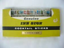 Retro 60's/70's Genuine Inn Signs  - Cocktail Sticks - Coaching Inns Of England