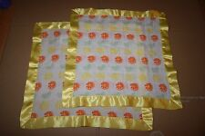 ADEN ANAIS 2 IDENTICAL BABY SECURITY BLANKET YELLOW Lemon Gender Neutral New