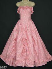 LAURA ASHLEY VINTAGE VICTORIAN SWAGS & BOWS SOUTHERN BELLE DRESS,6/8 (LABEL 12)