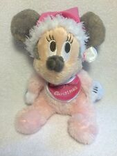 Disney Minnie Mouse Baby's First Christmas Pink Plush  Doll Toy Santa Hat