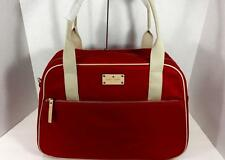 New Kate Spade Kennedy Park Milla Travel Carry On Tote Bag Luggage Garnet Red