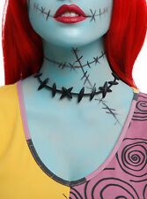 Disney Nightmare Before Christmas Costume Cosplay Sally Stitches Choker Necklace