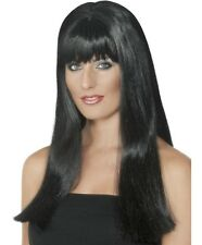 Ladies Mystique Fancy Dress Wig Black Hen Party Wig by Smiffys New