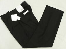 $150 NWT Mens Calvin Klein Black Wool Flat Slim Fit Dress Pants Sz 36x32 36 L306