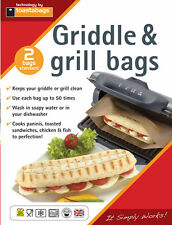 Panini Grill  & Griddle Bags (2 Pack) Use up to 50 Times,  PGB2PP