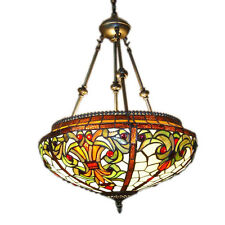 Tiffany Style Hanging Pendant Lamp Chandelier Stained Glass Light Ceiling Rare