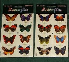 LOT of 24--3 D real looking-POP UP--BUTTERFLY  STICKERS