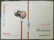 Original Retail Monster by Dr Dre iBeats In Ear Headphones Earphones-White