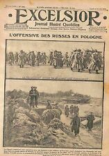 Offensive Soldiers Imperial Russian Army Bzura & Pilitza Lodz Poland WWI 1915