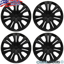 "4 NEW OEM MATTE BLACK 16"" HUB CAPS FITS NISSAN SUV CAR CENTER WHEEL COVERS SET"