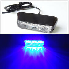 3LED 3W Work Vehicle Flashing Strobe Emergency Warn Side Net Light Bar Blue 12V
