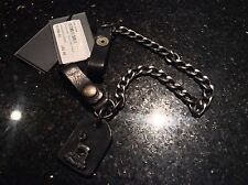 BNWT  DSQUARED2 GENUINE LEATHER AND METAL BELT LOOP KEY CHAIN - RING �� Skater