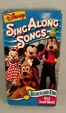 Disney's Sing Along Songs - Disneyland Fun: It's a Small World (VHS, 1993)
