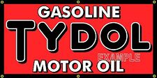 TYDOL MOTOR OIL GASOLINE OLD SCHOOL SIGN REMAKE BANNER SHOP GARAGE ART 2 X 4
