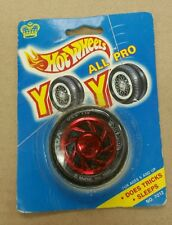 HOT WHEELS 'ALL PRO YO YO' TIRE AND RED 2 FANCY RIM VINTAGE 1990