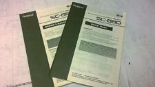 Roland SC-880 Synthesizer Owners Manual and Quick Start Guide