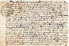 REGION AUVERGNE / DOCUMENT MANUSCRIT 1757 Vieux Français Cachet