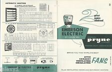 1958 EMERSON ELECTRIC FANS Attic Exhaust Ventilating Catalog w ASBESTOS History