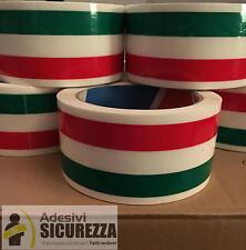 Nastro imballaggio Tricolore bandiera Italiana 50mm x 66MT 6 rotoli silenzioso