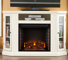 Southern Enterprises Claremont Convertible Media Ivory Electric Fireplace FE9314