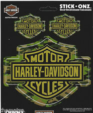 HARLEY DAVIDSON MOTORCYCLES CAMOUFLAGE BAR AND SHIELD STICKER DECAL