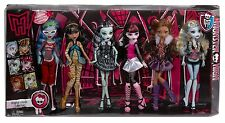 MONSTER HIGH ORIGINAL GHOULS 6 PACK DRAULAURA CLEO FRANKIE CLAWDEEN GHOULIA BLUE