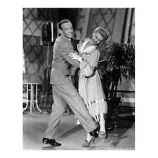 Fred Astaire with Ginger Rogers Smiling and Holding Waist 8 x 10 inch photo