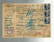 1951 Pirna East Germany DDR Parcel packet Registered Cover to Belgium Mi  226 x5