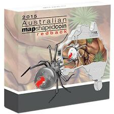 Australian Map Shaped Coin Series Red back Spider 1oz Silver Proof Coin 2015