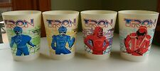 Rare Tron Original Classic Movie Fountain Cups Coca-Cola Coke 1982 Set of 4