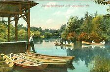 Milwaukee, WI  Boating in Washington Park 1909